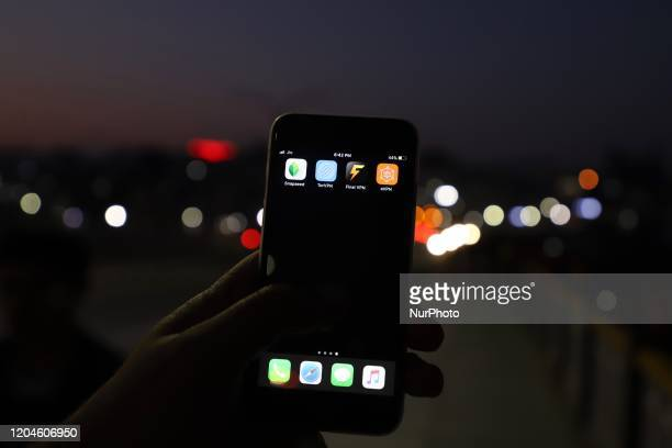 User shows multiple Virtual private networks installed on his phone in Srinagar, Jammu And Kashmir on 28 February 2020. Kashmiris use VPNs to access...