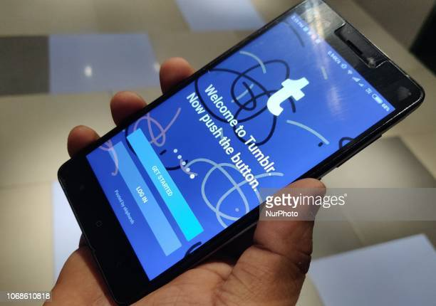 A user tries to install Tumblr App on his Phone Tumblr Will Be Permanently Banning All Adult Content Soon in India on 4 December 218