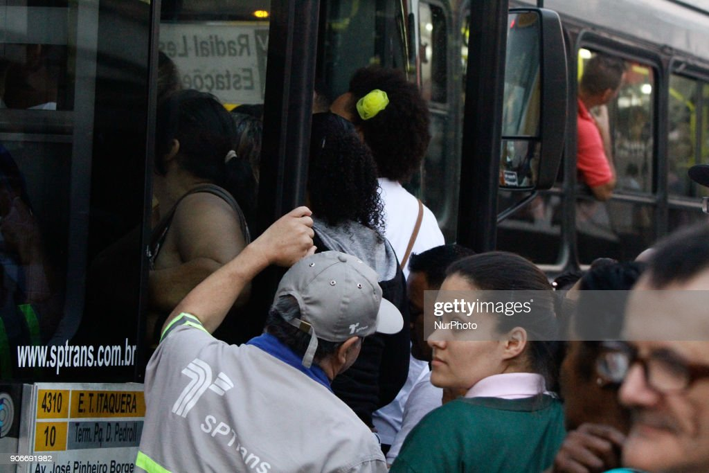 Trade Union Subway strike in Sao Paulo