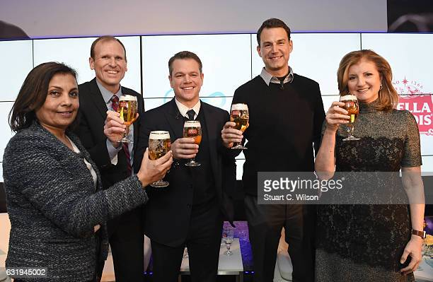 Usha RaoMonari CoChair of WEF Global Future Council Gary White and Matt Damon cofounders of Waterorg Ricardo Tadeu African Zone President of AB InBev...
