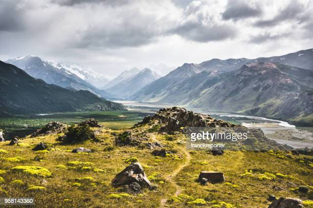 ushaia landscape in argentina - argentina stock pictures, royalty-free photos & images