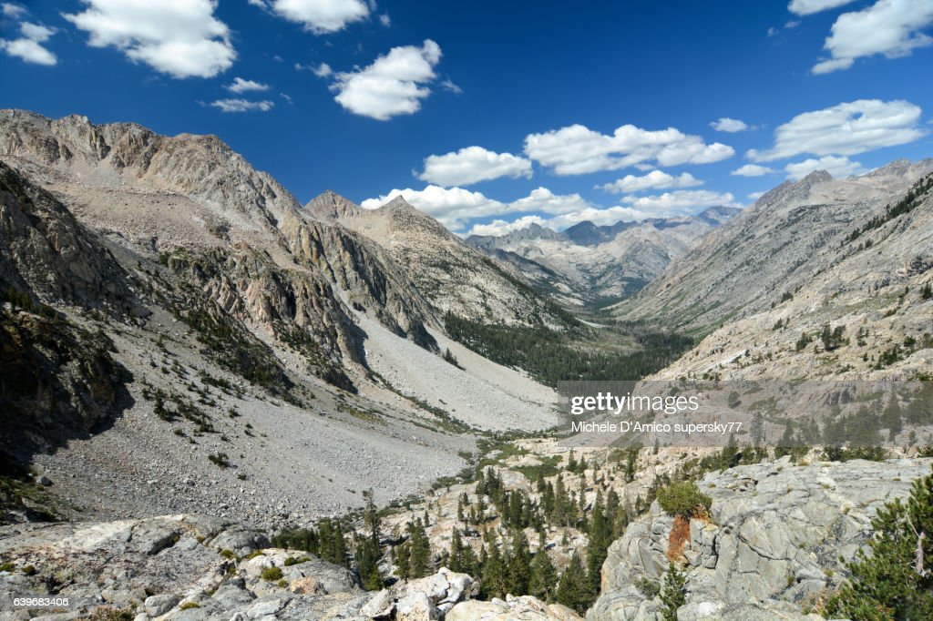 U-shaped valley in the High Sierra Nevada : Stock Photo