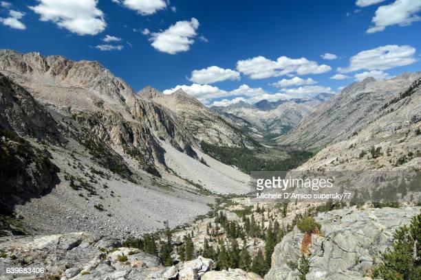 U-shaped valley in the High Sierra Nevada