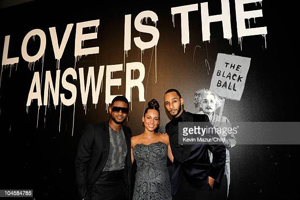 Usher Alicia Keys and Swizz Beatz attend at Keep A Child Alive's 7th annual Black Ball at Hammerstein Ballroom on September 30 2010 in New York City