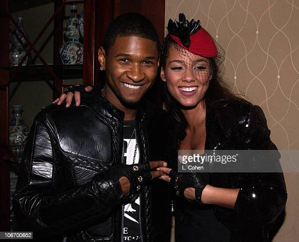 Usher Alicia Keys with a most glittering array of superstars and hot Hollywood stars gathered at the St Regis Hotel Presidential Penthouse to party