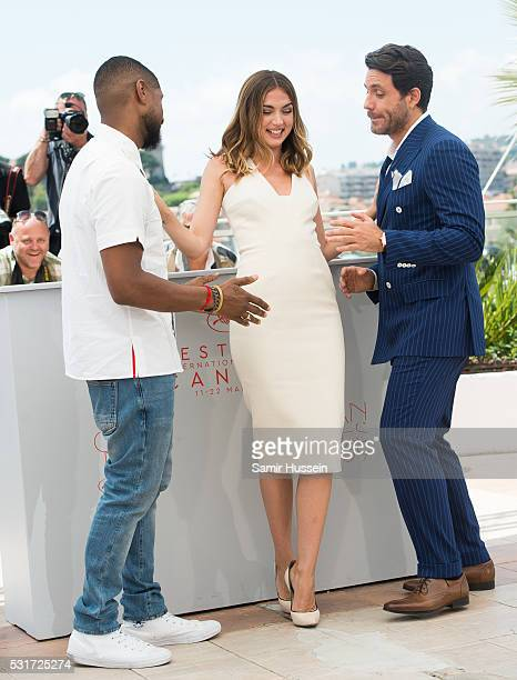 Usher Ana de Armas and Edgar Ramirez attend the 'Hands Of Stone' Photocall at the annual 69th Cannes Film Festival at Palais des Festivals on May 16...