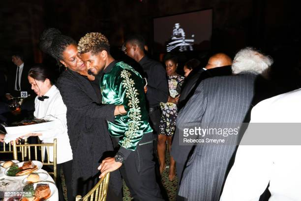 Usher and a guest at the Gordon Parks Foundation Awards Dinner at Cipriani 42nd on June 6 2017 in New York City