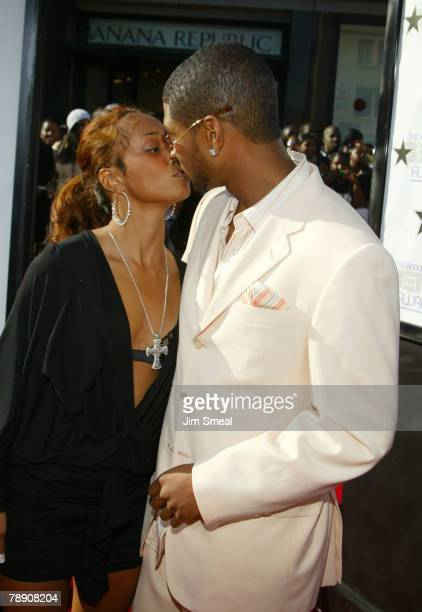 Usher And Chilli Kissing
