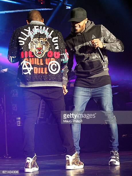 Usher and Chris Brown perform at The Real Show hosted by Real 923 at The Forum on November 5 2016 in Inglewood California