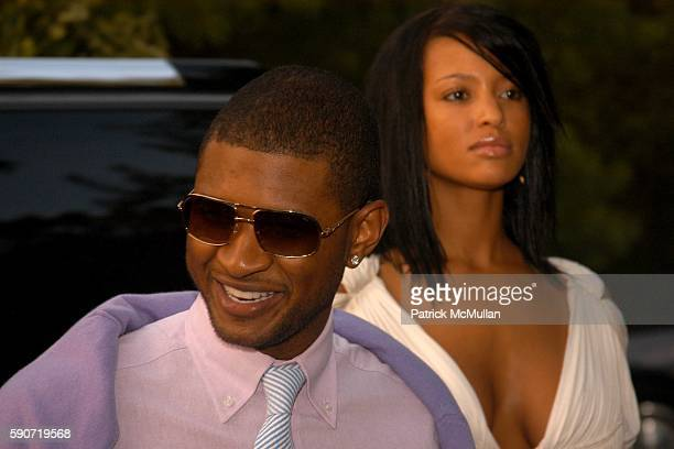 Usher and Eishia Brightwell attend Rush Philanthropic Arts Foundations's Sixth Annual ART FOR LIFE EAST HAMPTON at Estate of Russell and Kimora Lee...