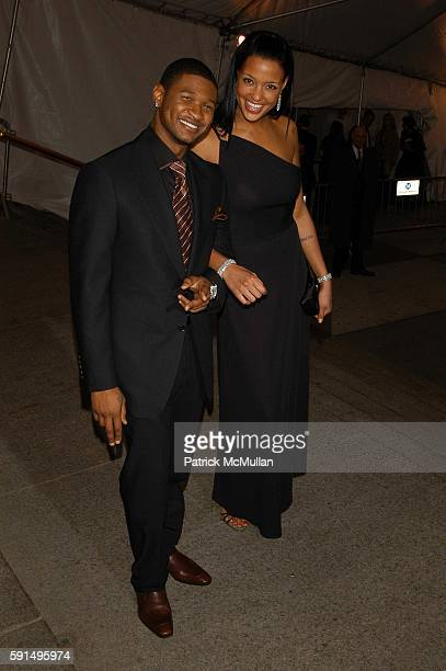 Usher and Eishia Brightwell attend The Metropolitan Museum of Art Costume Institute Spring 2004 Benefit Gala celebrating the exhibition Chanel at...