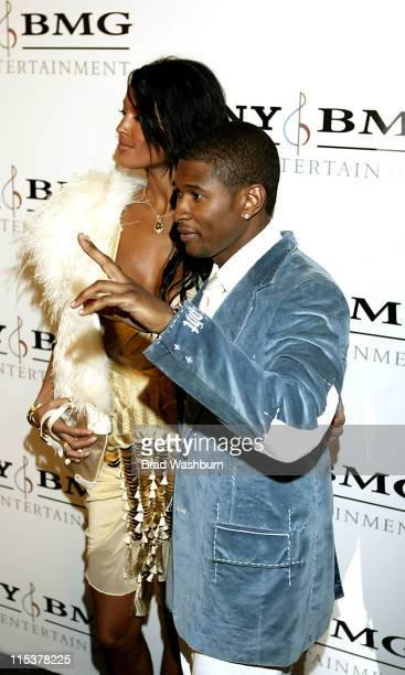 Usher and Eishia Brightwell during 2005 Sony/BMG Post GRAMMY Awards Party at Roosevelt Hotel in Los Angeles California United States