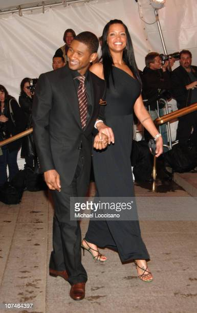 Usher and Eishia Brightwell during Chanel Costume Institute Gala Opening at the Metropolitan Museum of Art Arrivals at Metropolitan Museum of Art in...