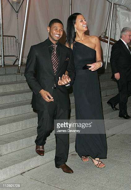 Usher and Eishia Brightwell during Chanel Costume Institute Gala at The Metropolitan Museum of Art Departures at The Metropolitan Museum of Art in...
