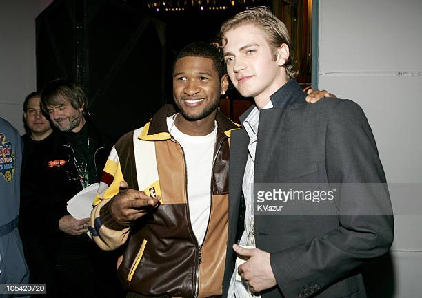 Usher and Hayden Christensen during Nickelodeon's 18th Annual Kids Choice Awards Backstage and Audience at Pauley Pavilion in Los Angeles California...