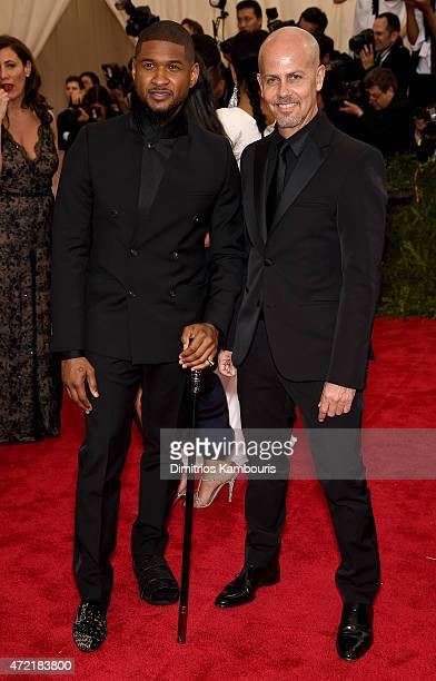 "Usher and Italo Zucchelli attend the ""China: Through The Looking Glass"" Costume Institute Benefit Gala at the Metropolitan Museum of Art on May 4,..."