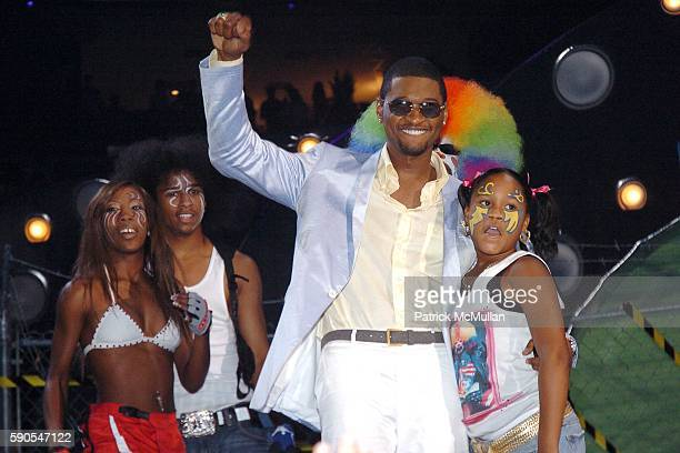 Usher and Krump Dancers attend 2005 MTV Video Music Awards at American Airlines Arena on August 28 2005 in Miami FL