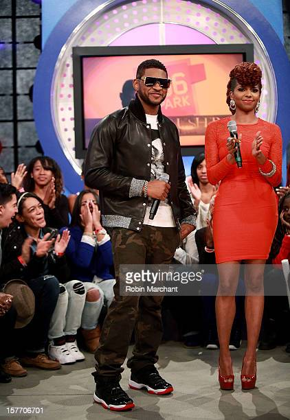 Usher and Miss Mykie visit 106 Park studio on December 5 2012 in New York City