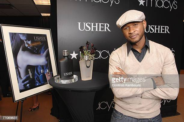 Usher Appearance at Macy's For Fragrances Usher for Men Usher for Women on September 27 2007 in New York City