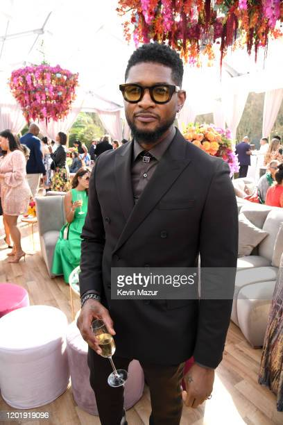 Usher attends 2020 Roc Nation THE BRUNCH on January 25 2020 in Los Angeles California