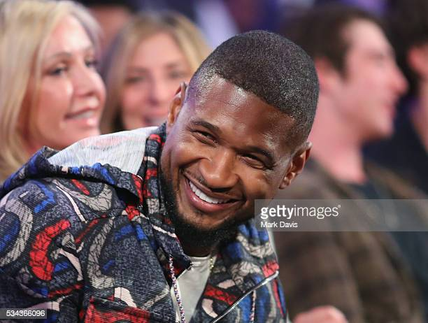 Usher attends B Riley Co and Sugar Ray Leonard Foundation's 7th Annual Big Fighters Big Cause Charity Boxing Night at Dolby Theatre on May 25 2016 in...