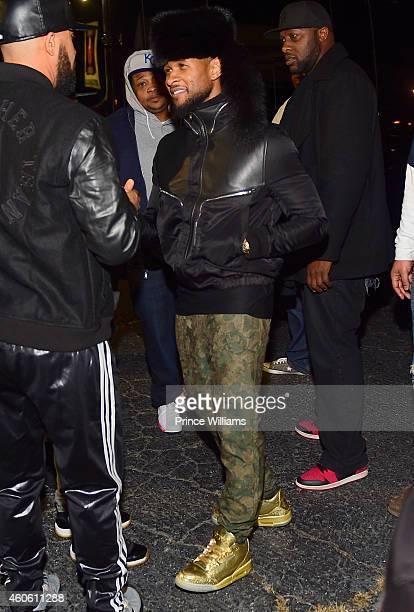 Usher Attends Diamonds of Atlanta on December 9 2014 in Atlanta Georgia