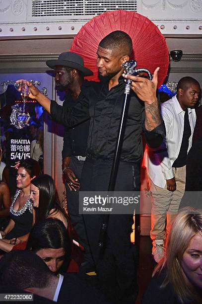 Usher attends Rihanna's private Met Gala after party at Up Down on May 4 2015 in New York City