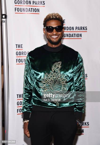 Usher attends the 2017 Gordon Parks Foundation Awards Gala at Cipriani 42nd Street on June 6 2017 in New York City