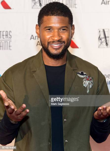 Usher attends the 2018 Songwriter's Hall Of Fame Induction and Awards Gala at New York Marriott Marquis Hotel on June 14 2018 in New York City