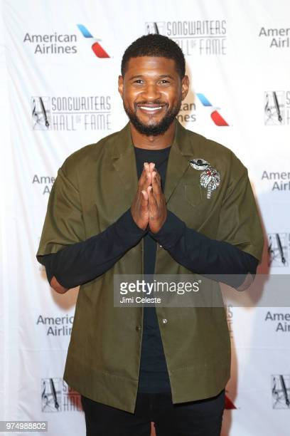 Usher attends the 2018 Songwriters Hall of Fame Induction and Awards Gala at the New York Marriott Marquis Hotel on June 14 2018 in New York New York
