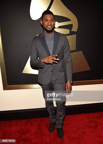 Usher attends The 57th Annual GRAMMY Awards at the STAPLES Center on February 8 2015 in Los Angeles California