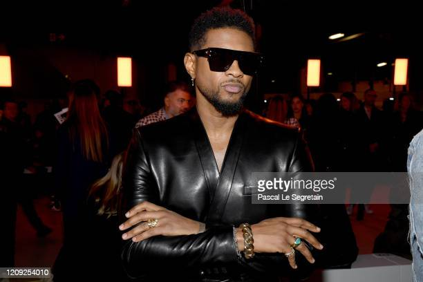 Usher attends the Balmain show as part of the Paris Fashion Week Womenswear Fall/Winter 2020/2021 on February 28, 2020 in Paris, France.