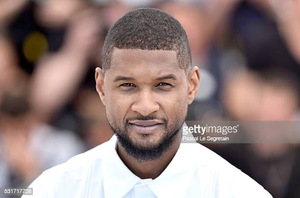 Usher attends the Hands Of Stone photocall during the 69th annual Cannes Film Festival at the Palais des Festivals on May 16 2016 in Cannes France