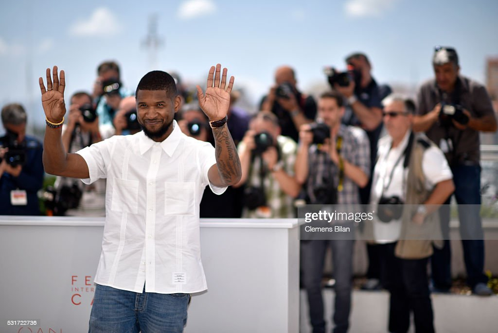 Usher attends the 'Hands Of Stone' photocall during the 69th annual Cannes Film Festival at the Palais des Festivals on May 16, 2016 in Cannes, France.