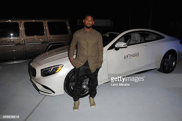 Usher attends the MercedesAMG and Lufthansa ARTHAUS Reception with Grammy Award Winner Usher at Select Art Fair on December 3 2014 in Miami Florida