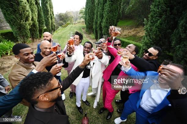 Usher Christian Combs Kareem Burke Juan Perez JayZ Sean Combs Joey Bada$$ Meek Mill and Michael Rubin attend 2020 Roc Nation THE BRUNCH on January 25...