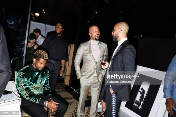 Usher Common and Swizz Beatz attend the Gordon Parks Foundation Awards Dinner at Cipriani 42nd on June 6 2017 in New York City