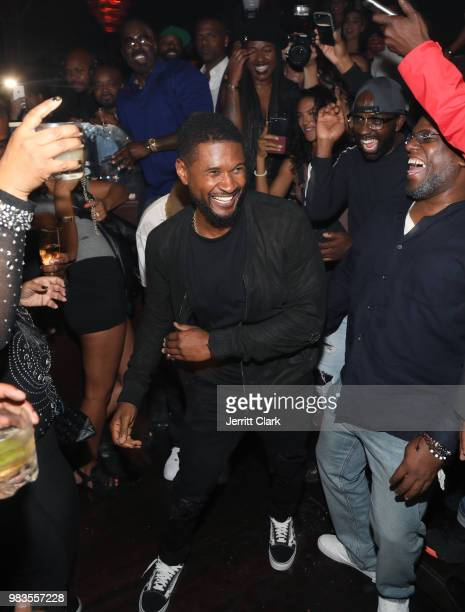 Usher dances with guests during The 8th Annual Mark Pitts Bystorm Ent Post BET Awards Party Powered By Ciroc on June 24 2018 in Los Angeles California