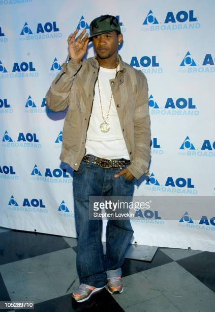 Usher during AOL Music Broadband Rocks Live Concert With Usher - Arrivals and Show at Webster Hall in New York City, New York, United States.