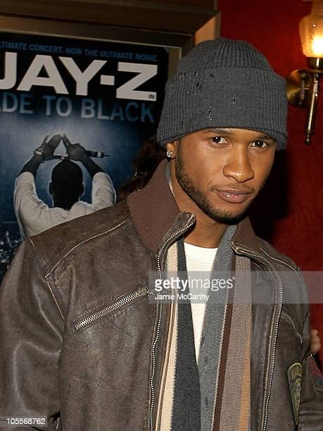 """Usher during """"Jay-Z Fade To Black"""" Premiere - Inside Arrivals at Ziegfeld Theater in New York City, New York, United States."""
