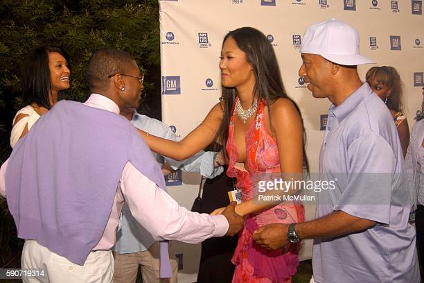 Usher Eishia Brightwell Kimora Lee Simmons and Russell Simmons attend Rush Philanthropic Arts Foundations's Sixth Annual ART FOR LIFE EAST HAMPTON at...