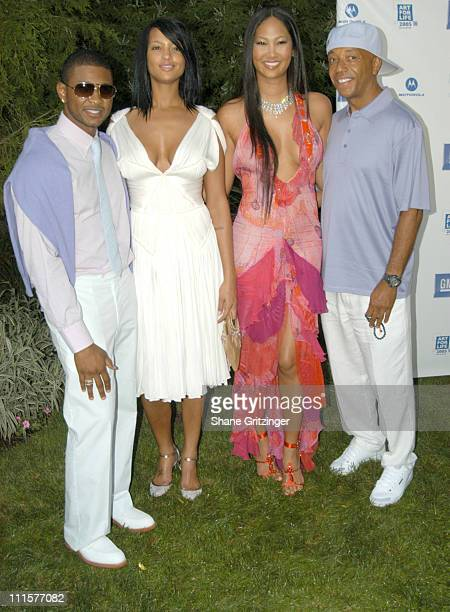 Usher Eishia Brightwell Kimora Lee Simmons and Russell Simmons
