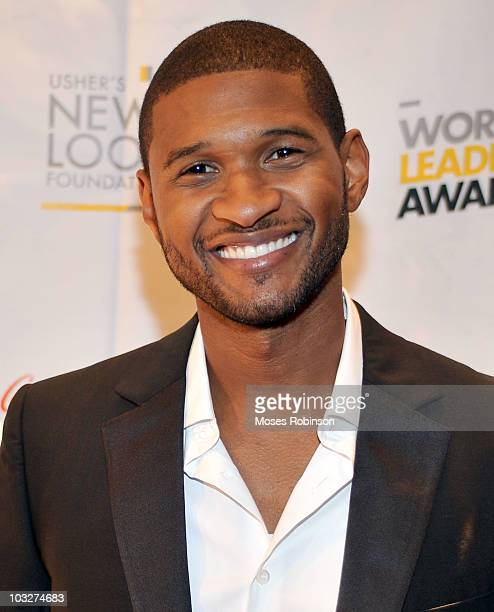 Usher Founder of Usher's New Look attends the New Look Foundation's First Annual World Leadership Awards at Cobb Energy Performing Arts Centre on...