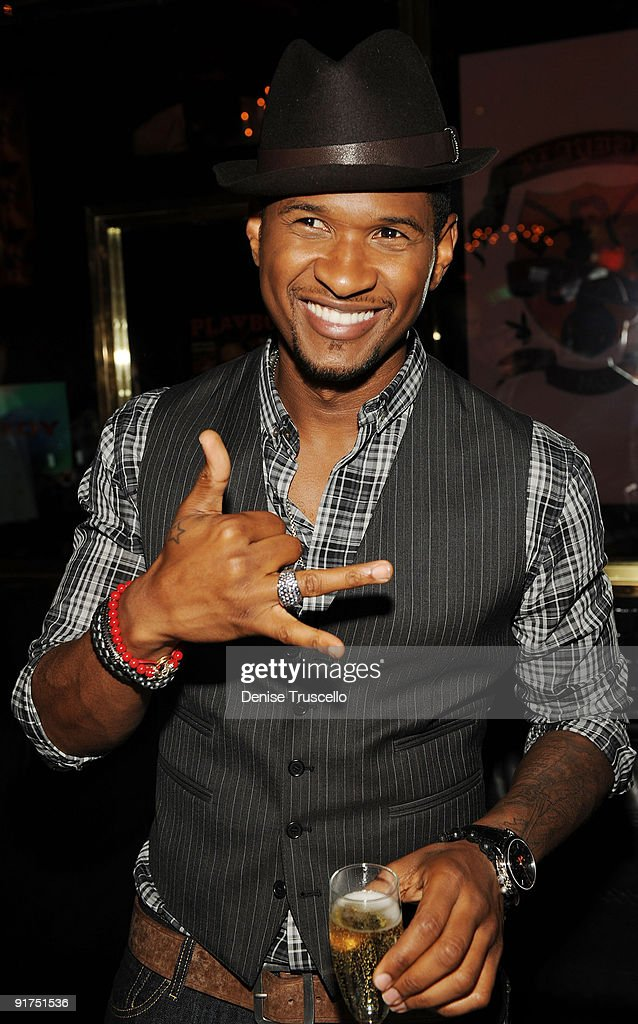 Usher hosts Vegas Magazine Mens issue event at Playboy Club on August 7, 2009 in Las Vegas, Nevada.