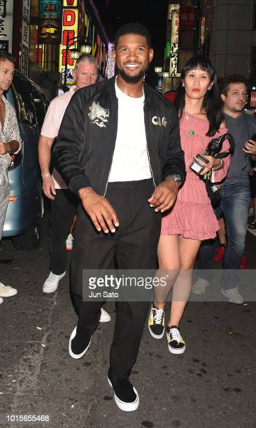 Usher is seen in Shinjuku Kabukicho on August 12 2018 in Tokyo Japan