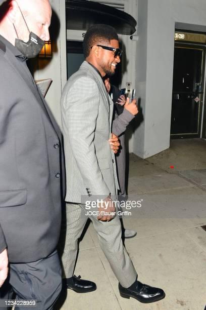 Usher is seen on July 26, 2021 in Los Angeles, California.