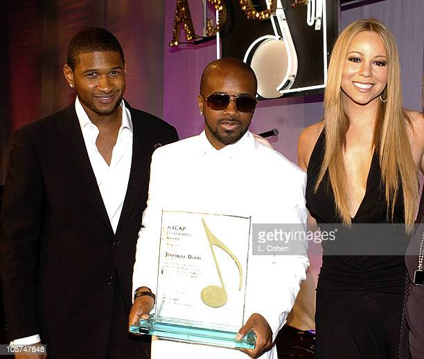 Usher Jermaine Dupri and Mariah Carey during 2005 ASCAP Pop Awards Show at Beverly Hilton Hotel in Beverly Hills California United States