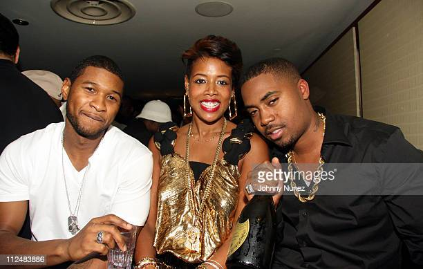 Usher Kelis and Nas during Kelis Throws Nas a Surprise Birthday Party with a Special Performance September 13 2006 at Canal Room in New York New York...