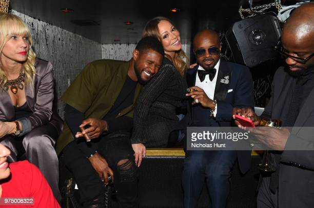Usher Mariah Carey and Jermaine Dupri attend as Jermaine Dupri celebrates So So Def 25 and Songwriters Hall of Fame Induction at GoldBar Toasted by...