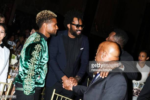 Usher Maxwell Osborne and Congressman John Lewis attend the Gordon Parks Foundation Awards Dinner at Cipriani 42nd on June 6 2017 in New York City